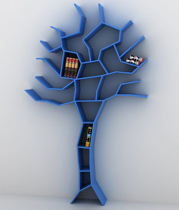 This is an unique bookcase designed by Roberto Corazza. It's like this Tree Branch Bookshelfwith full shape of tree, not only branch.