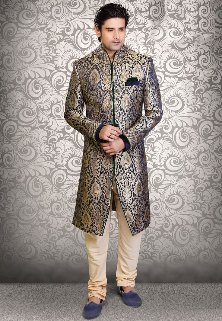 Image result for grey brocade sherwani