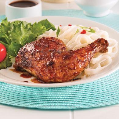 Cuisses de poulet laquées