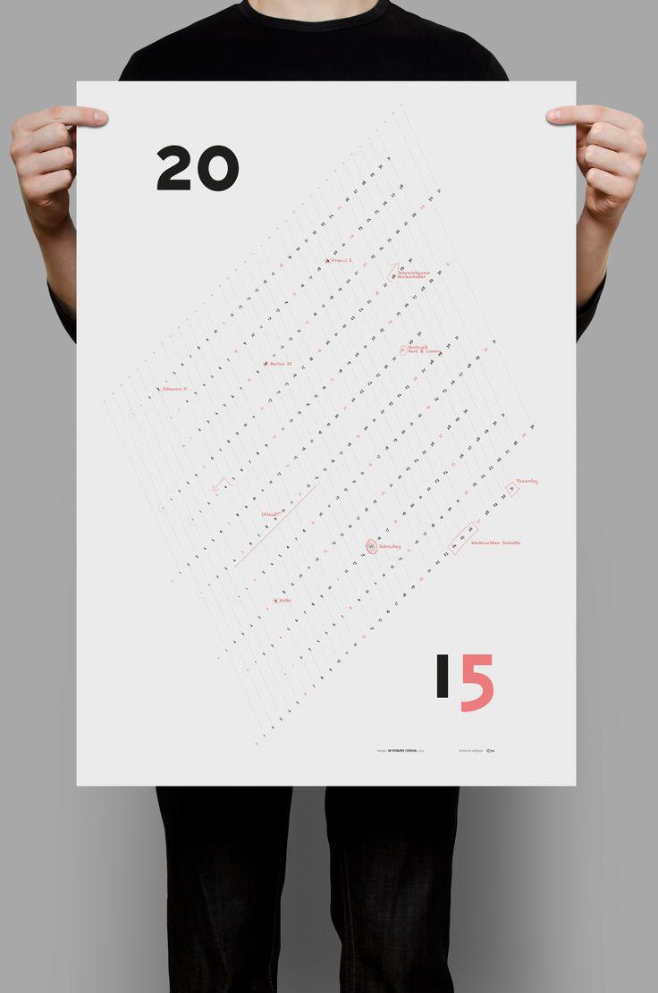 Die besten 25 kalender design ideen auf pinterest for Kalender design