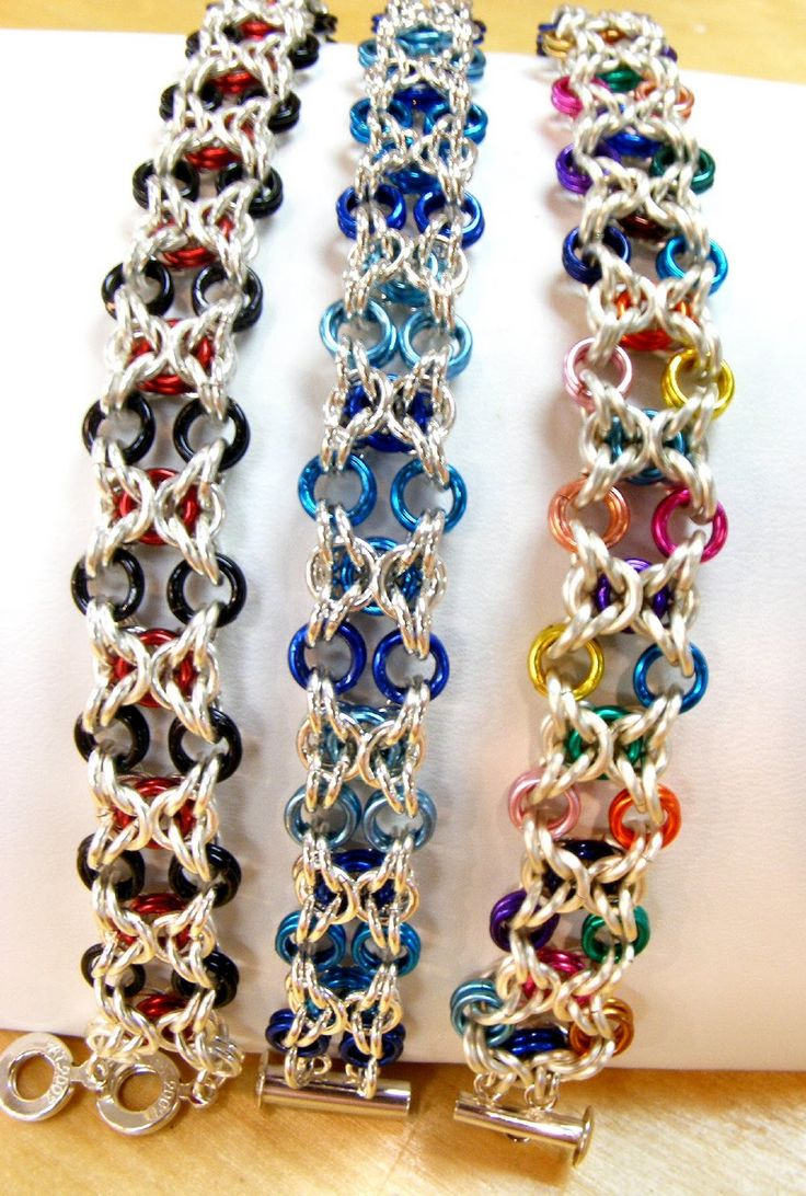 Byzantine chainmaille - @Bethany Blanton I will trade you leg warmers for your husband making me a chain mail bracelet!  Too cool!! :D
