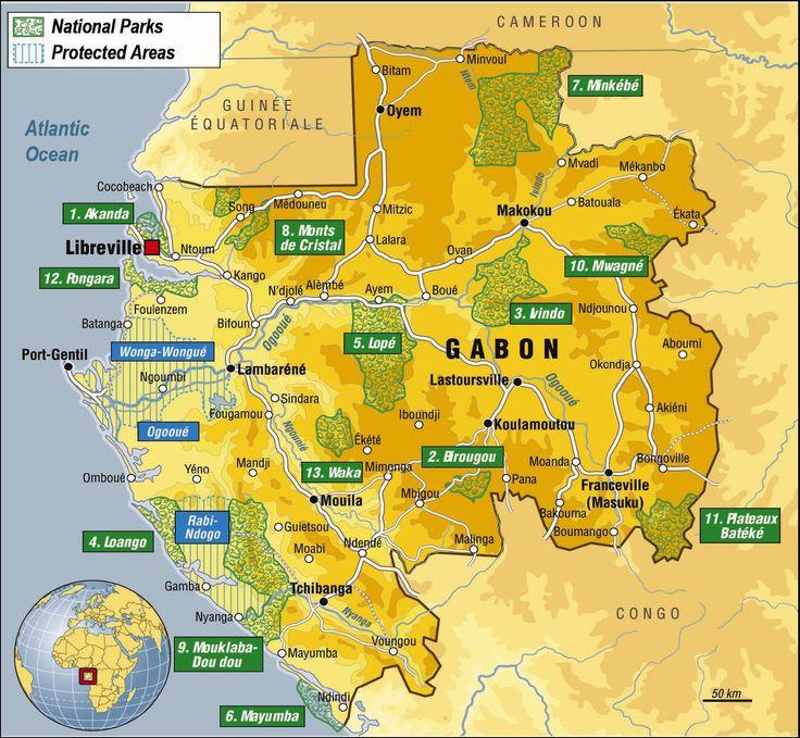 Carte Gabon