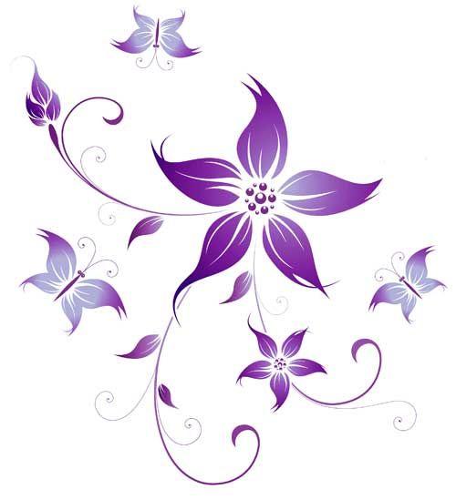 Purple flower tattoos pinterest tattoos gallery for Small flower designs