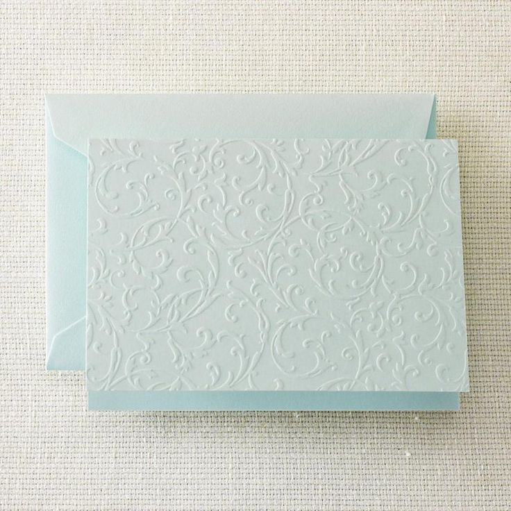 Beach Glass Blind Embossed Notes