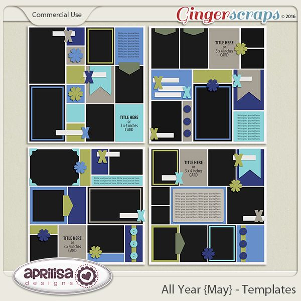 All Year {May} - Template Pack