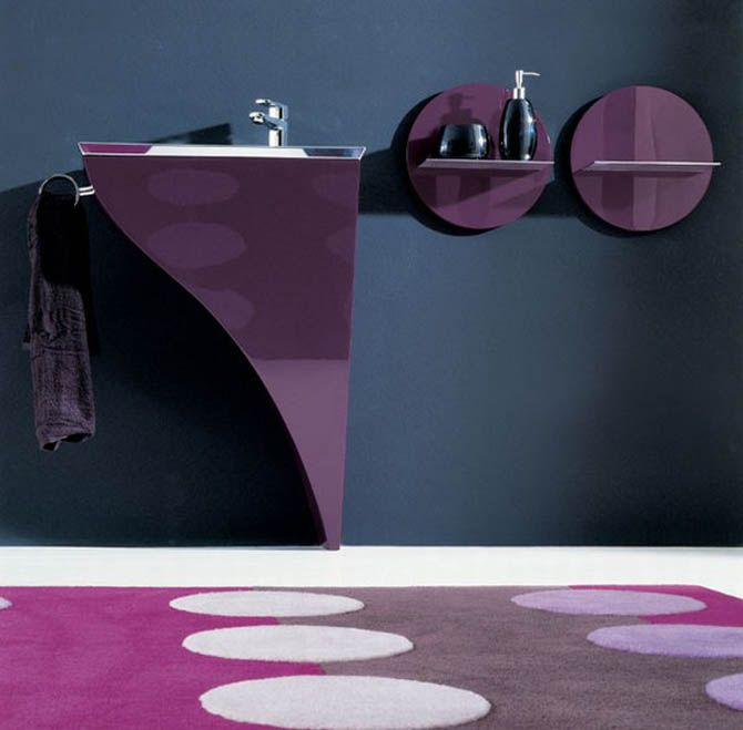 Image detail for -Ultra Modern Luxury Bathroom Furniture Set Interior Design   Modern ...Purple Room, Decor Ideas, Bathroom Furniture, Modern Bathroom Design, Luxury Bathroom, Purple Bathroom, Interiors Design, White Bathroom, Black Furniture