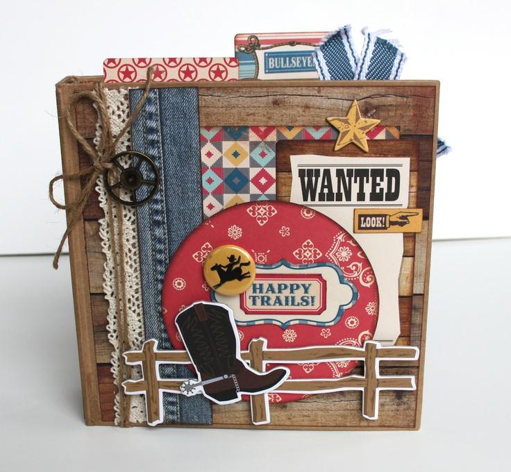 artsyalbums on etsy Scrapbook Kit Mini Album 'Happy Trails'
