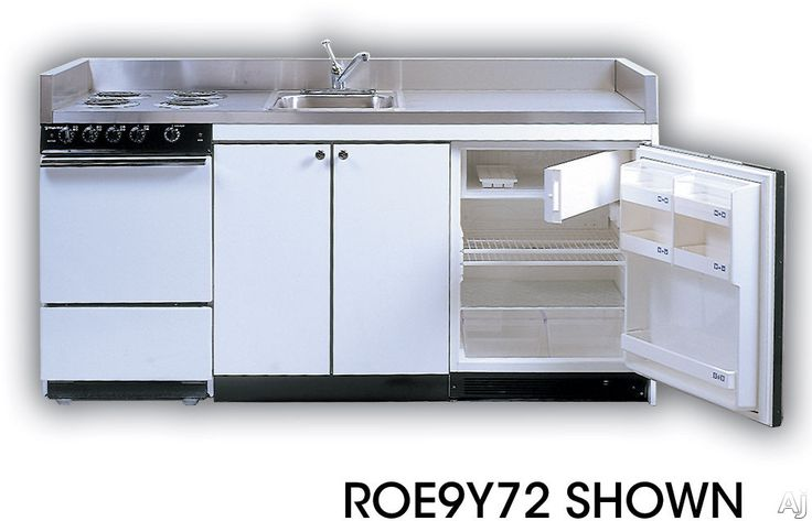 Acme Roe9y75 Compact Kitchen With Stainless Steel