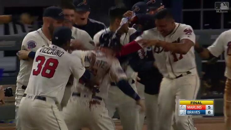 Braves walkoff walk
