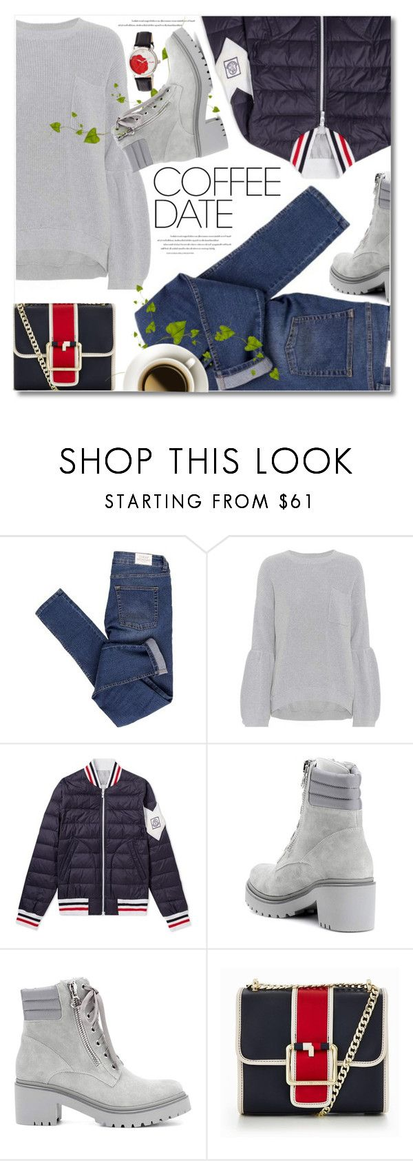 """""""Buzz-Worthy: Coffee Date"""" by svijetlana ❤ liked on Polyvore featuring Cheap Monday, Brunello Cucinelli, Moncler, Tommy Hilfiger, Bertha and CoffeeDate"""