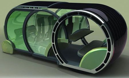 Future French Solar Powered Car Concept for 2030