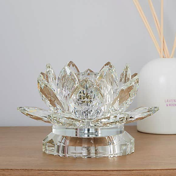 Dorma Cassali Lotus Flower Crystal Table Lamp In 2021 Crystal Table Lamps Crystals Table Lamp