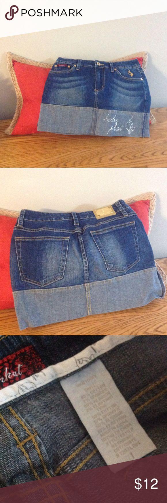 BABY PHAT Jean skirt EUC mini skirt Baby Phat Skirts Mini
