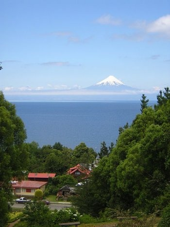 View of the volcano Osorno from Frutillar, Chile