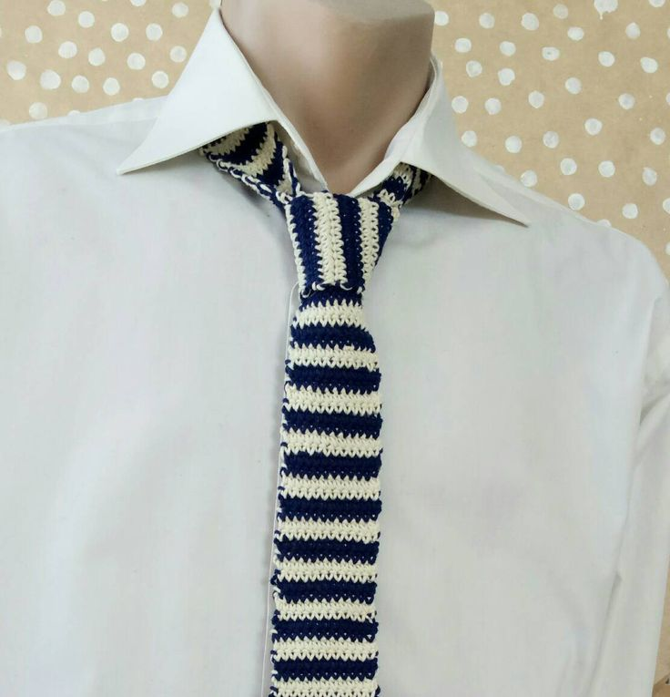 blue and white tie, striped tie for men, mens tie boating, tie yachting style, neck tie for yachts marine, tie striped knitted, sea wedding by CuteGiftStudio on Etsy