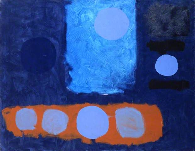 Patrick Heron. Blue Painting With Discs. 1962.