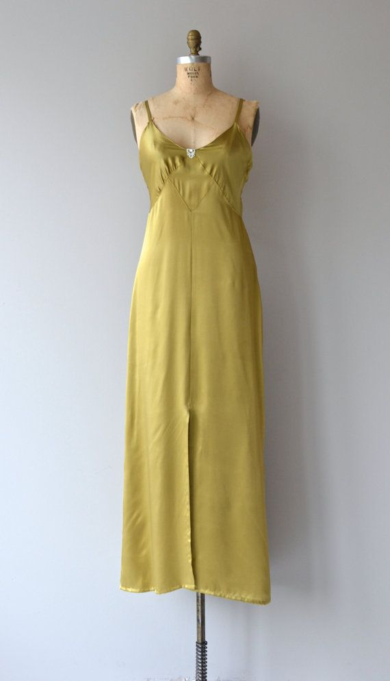 Astraldyne dress vintage 1930s dress bias silk 30s by DearGolden