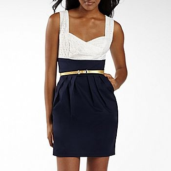 Blue, gold and white. Perfect for a Kent State University graduation dress. Good thing I picked it up yesterday!