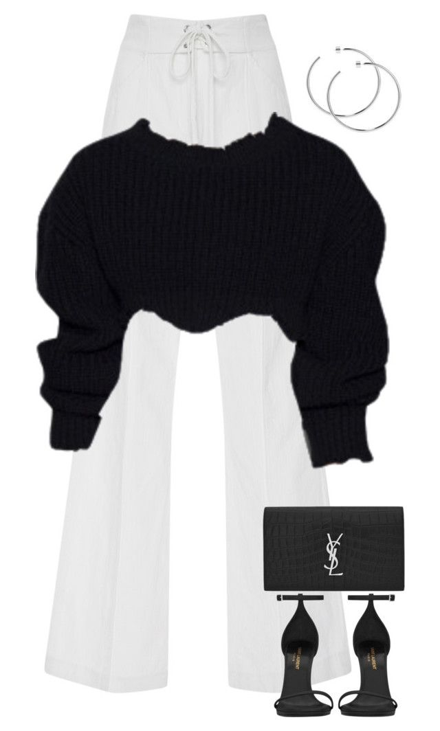 """Untitled #321"" by nelafashion ❤ liked on Polyvore featuring A.L.C., Yves Saint Laurent and Jennifer Fisher"