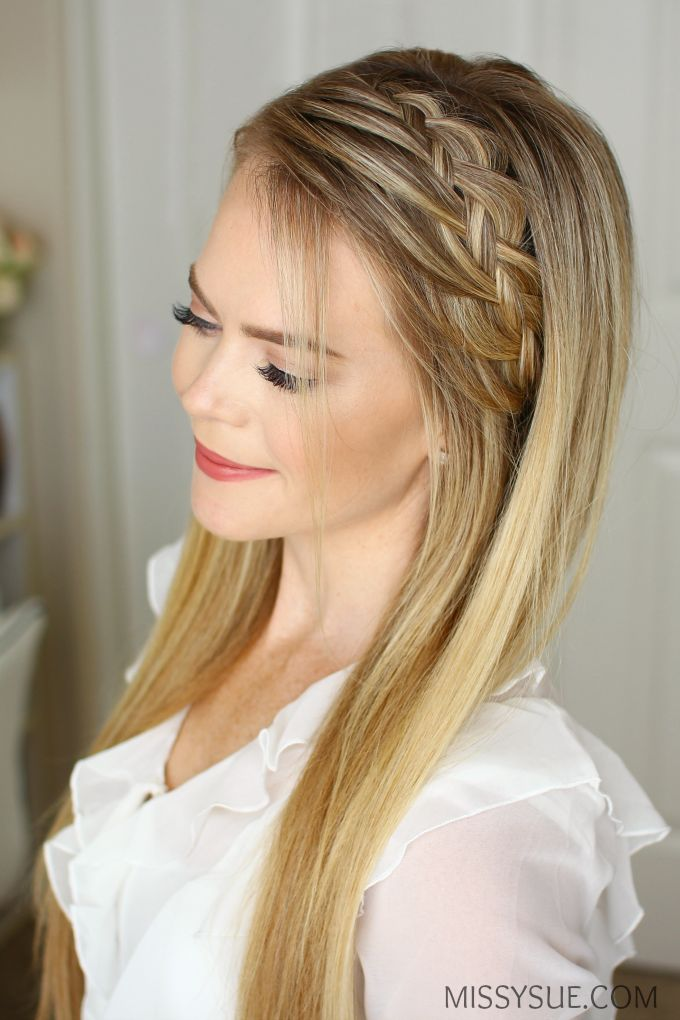 Woven Headband Braid One of my favorite hair tutorials is the Double Braided Ponytail. It looks like such an intricate braid but is actually two braid...