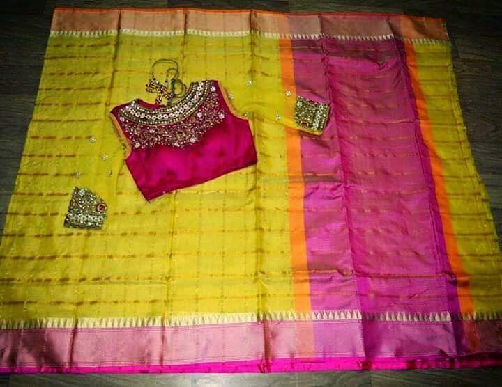 Bridal Saree With Designer Blouse  Buy saees At online   Elegant Fashion Wear Price:10500 #elegantfashionwear #latest #pattu #saree #designer #blouse
