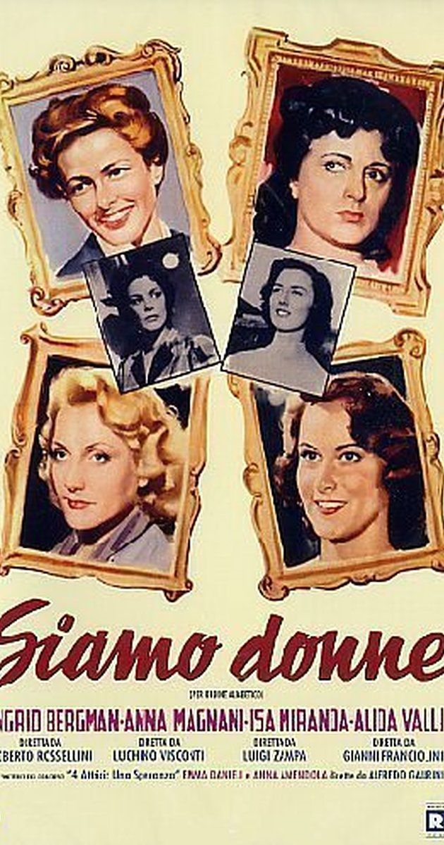 Directed by Gianni Franciolini, Alfredo Guarini, Roberto Rossellini.  With Ingrid Bergman, Anna Magnani, Isa Miranda, Alida Valli. Five…