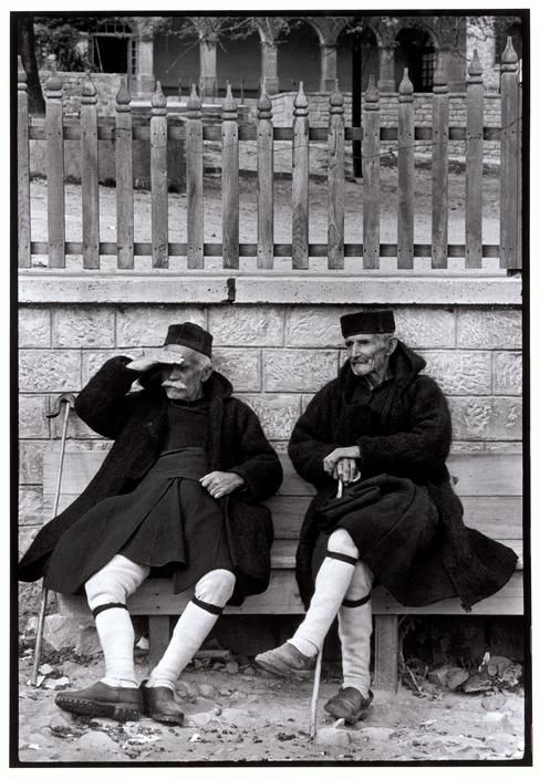Men in foustaneles, Metsovo, Greece, 1964 - by Constantine Manos (1934), USA