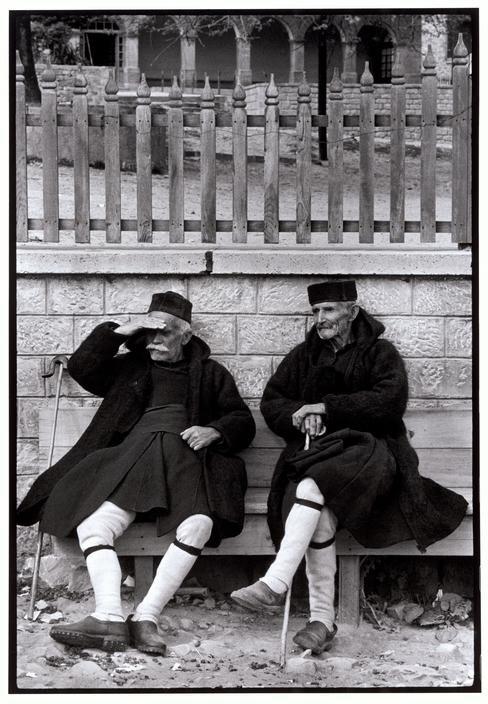 Men in foustaneles, Metsovo, Greece, 1964 - by Constantine Manos (1934), USA