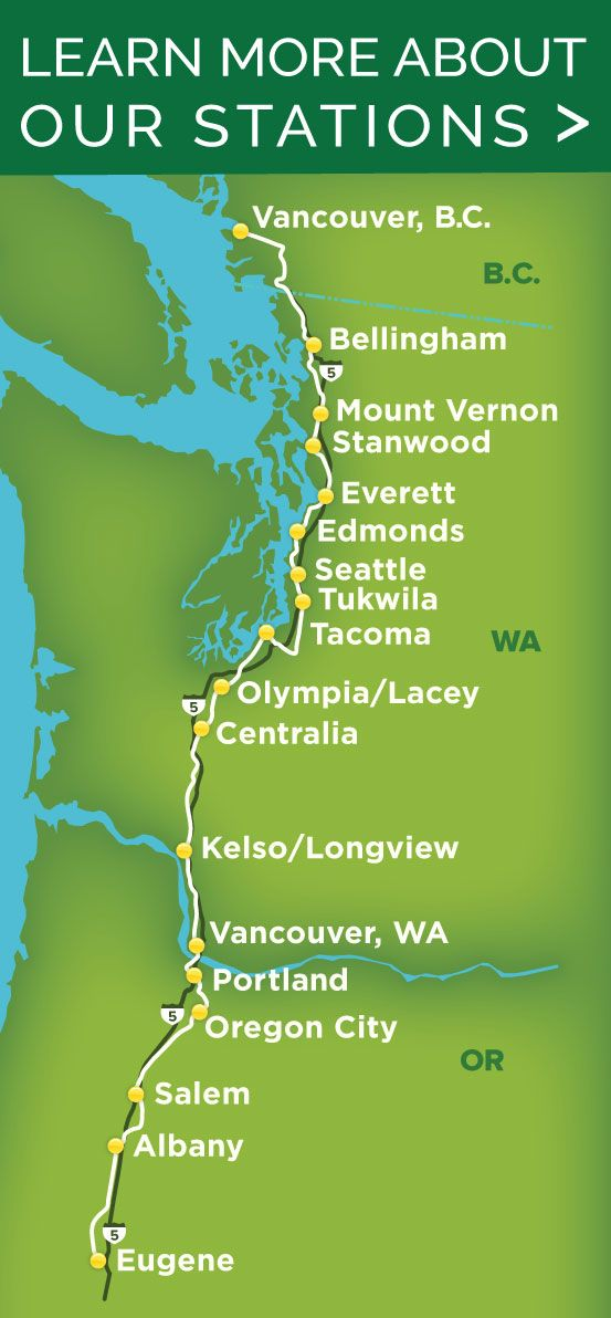 Amtrak Cascades Scenic Train- Seattle to Vancouver