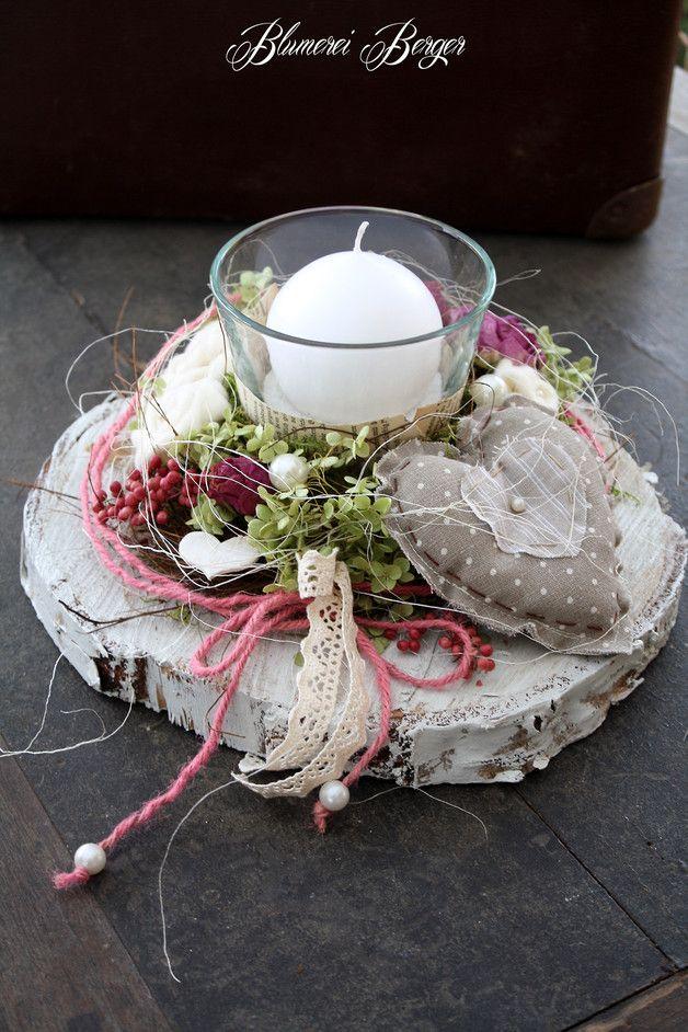 """Deko-Objekte - :::: Tischdeko """" Rosenliebe """" 2.0 :::: - ein Designerstück von BlumereiBerger bei DaWanda"""