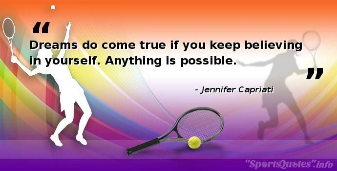 Inspirational Tennis Quotes for Athletes, Coaches, Teams http://sportsquotes.info/tennis/773