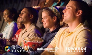 Groupon - Two or Four VIP Super Saver e-Tickets to Regal Entertainment Group (Up to 48% Off) in Multiple Locations. Groupon deal price: $13.0.00