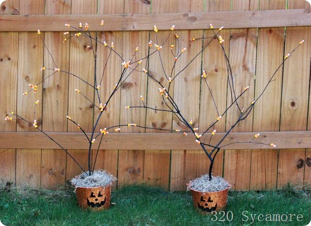 candy corn trees