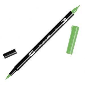 Feutre Tombow Dual Brush - Feutre pinceau double pointe Light Green ABT-195 : Après les