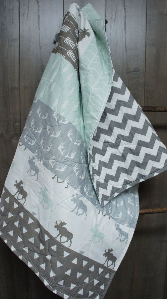 Baby Boy/Girl Quilt Baby/Toddler Blanket Woodland by Babylooms
