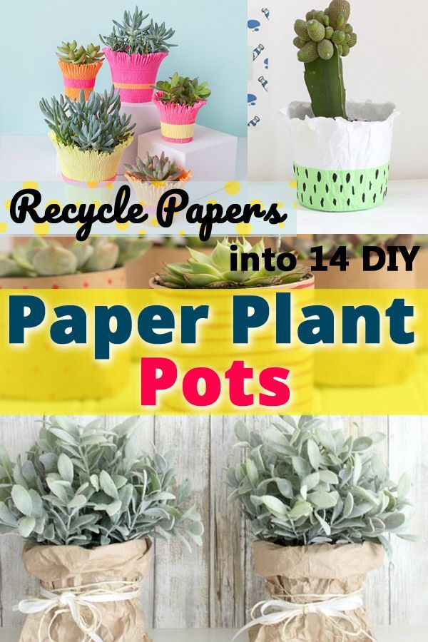 Recycle Papers Into 14 Diy Paper Plant Pots Paper Plant Pots