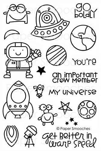 Cute generic sci-fi stickers that border on plagiarizing Star Trek :)