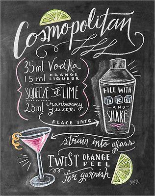 Poster / Leinwandbild Cosmopolitan Cocktail Rezept - Lily & Val                                                                                                                                                                                 Mehr
