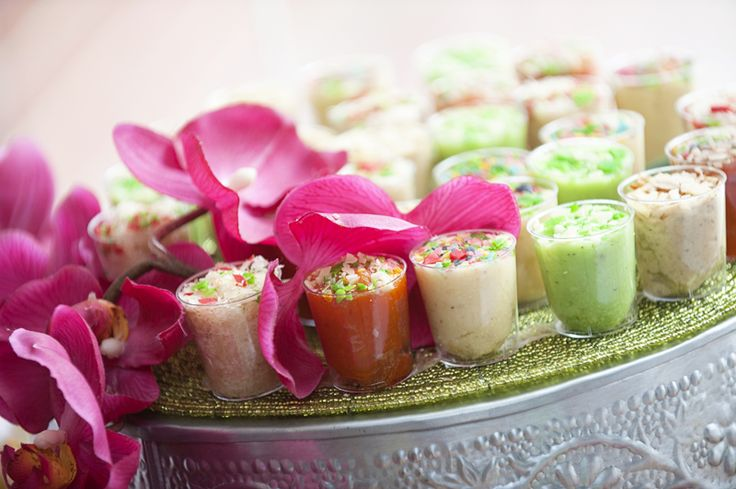 Assorted sweetmeats (mithai) with pink orchids. Plated by @NaQiyah Mayat