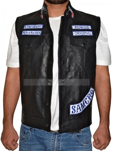 We at Buymoviejackets.com present Additionally Stylish Sons Of Anarchy Leather Vest, which was worn by Charlie Hunnam from the well-famed drama series, now you can find with discount price.