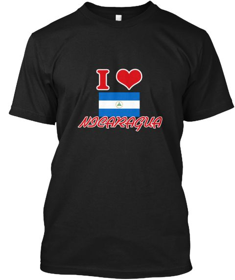 I Love Nicaragua Black T-Shirt Front - This is the perfect gift for someone who loves Nicaragua. Thank you for visiting my page (Related terms: I Heart Nicaragua,Nicaragua,Nicaraguan,Nicaragua Travel,I Love My Country,Nicaragua Flag, Nicaragua  #Nicaragua, #Nicaraguashirts...)