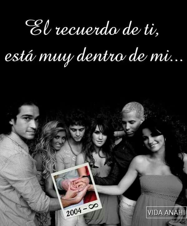 El recuerdo de ti esta muy dentro de mi....#RBD #ParaSiempre #GeneracionRebelde