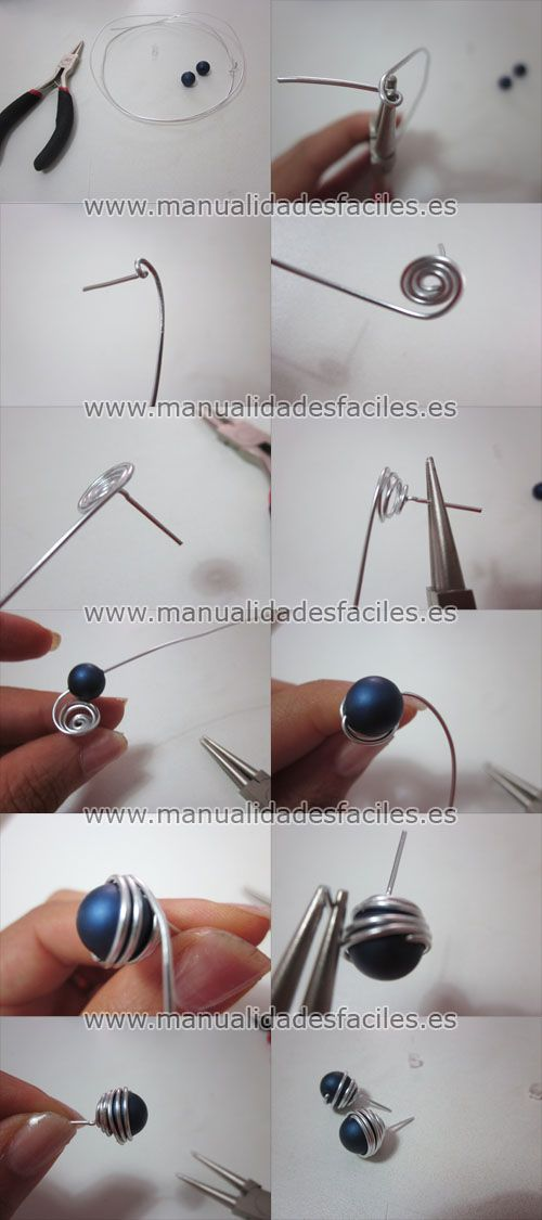 wire wrapping:earring posts