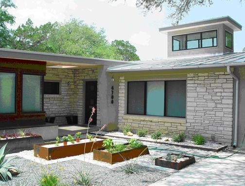 4700 Hilwin Circle Austin, TX Recently Featured On The Modern Home Tour  Austin   Exterior Garden
