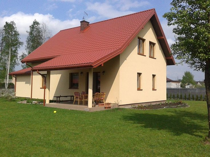 Widok domu z ogrodu #dom #projekt #ogród