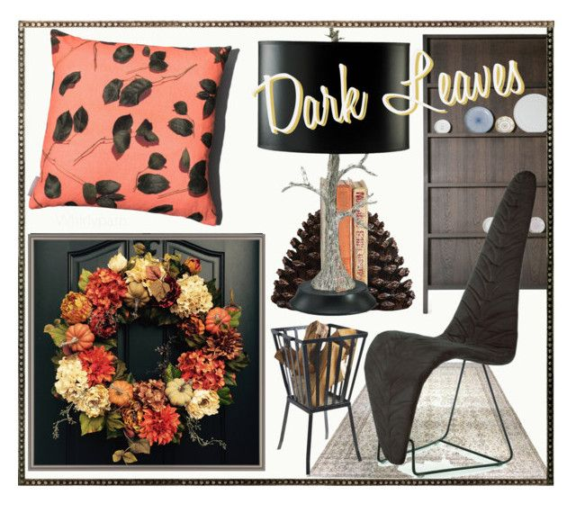 Dark Leaves! by whirlypath on Polyvore featuring interior, interiors, interior design, home, home decor, interior decorating, Cyan Design, Susan Castillo, Moooi and Dot & Bo