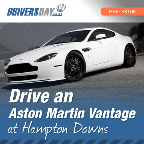 From $299, driving an Aston Martin Vantage at Hampton Downs is a great gift for men or women. 4.3 litre quad-cam V8 producing 380 bhp (283 kw). The flowing lines & stark black and white paint job provide the perfect combination of beauty & strength in one.