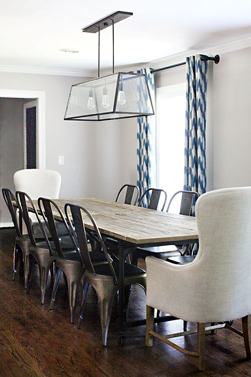 25 best ideas about metal dining chairs on pinterest for Restoration hardware dining room ideas