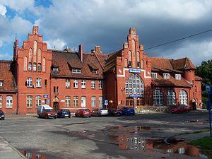 Braniewo (formerly Braunsberg) train station on Russian-Polish border