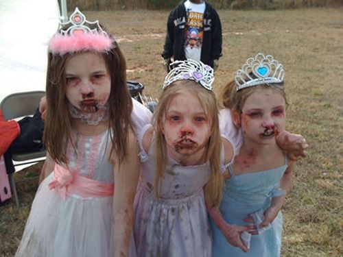 There are few zombies more creepy than the little girl princess zombie.